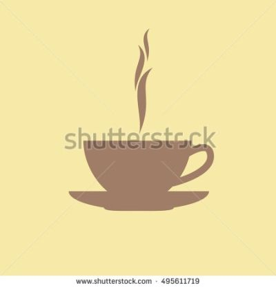 Coffee icon. Vector illustration and raster copy.