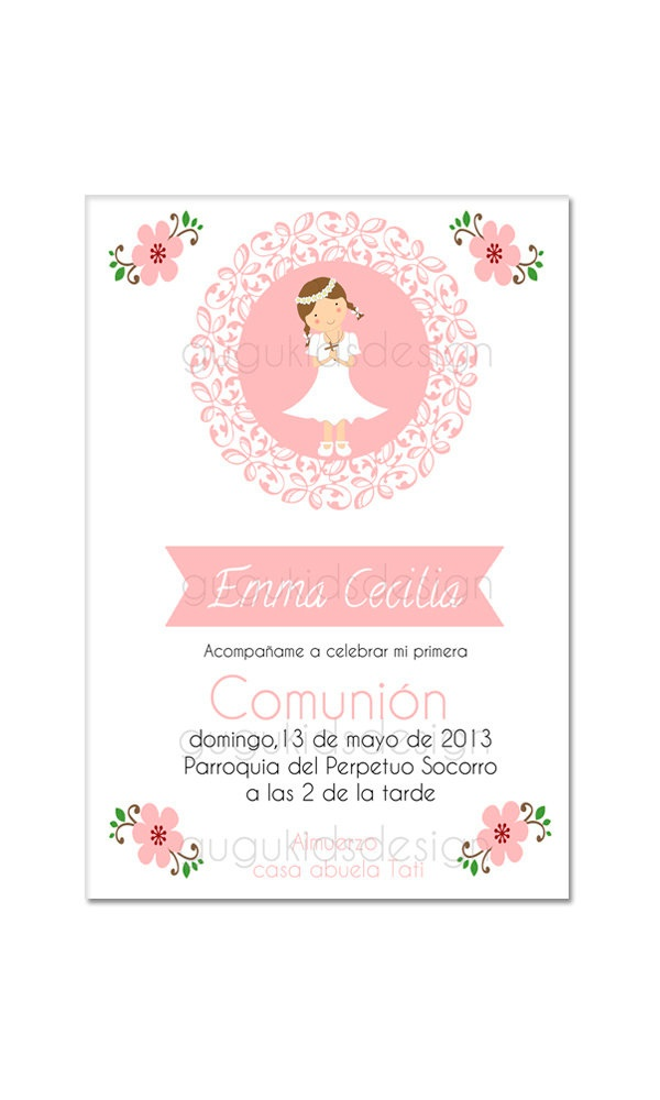 739 best comunin images on pinterest first holy communion for diy printable girl first communion invitation solutioingenieria Image collections