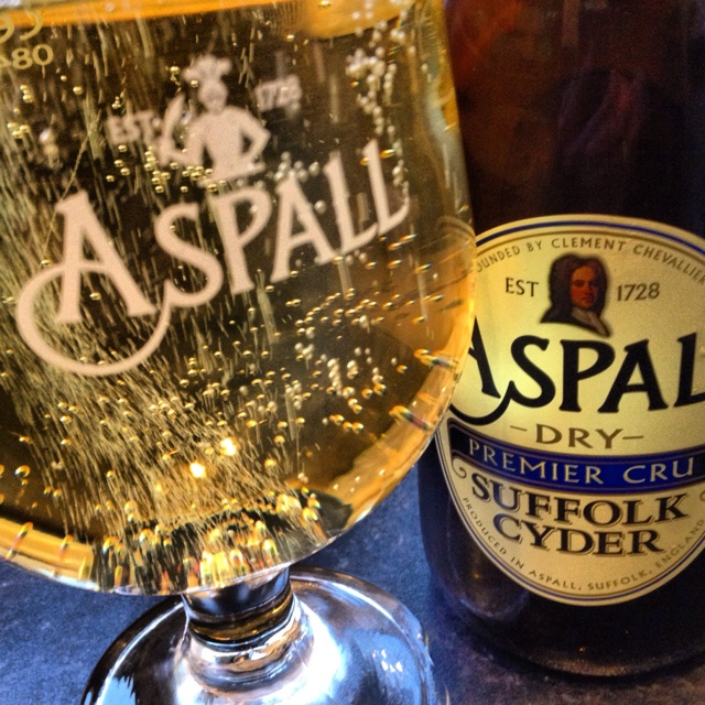 Apples are pressed in Suffolk to make Aspall Cyder.    Enjoyed worldwide.