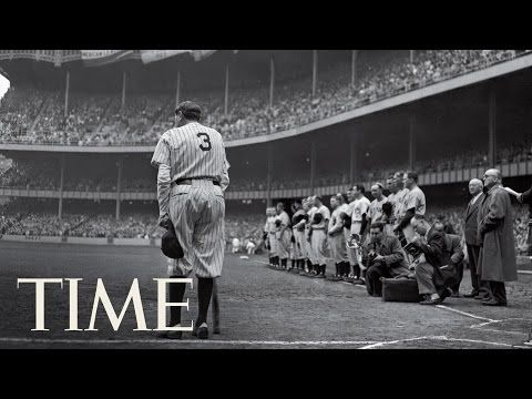 TIME: The Babe Bows Out: Behind Nat Fein's Photo Of Babe Ruth | 100 Photos -  On the day the Yankees retired Babe Ruth's number, Nat Fein's instinct to shoot him in 1948 from behind paid homage not only to the baseball legend but to the House that Ruth Built.
