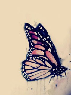water color monarch butterfly tattoo - Google Search on my memorial sleeve                                                                                                                                                     More
