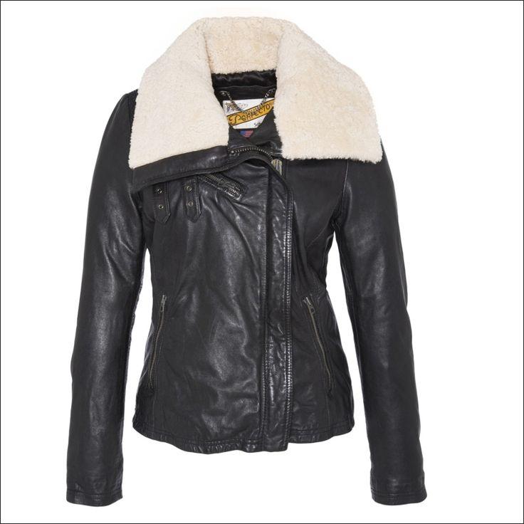 Γυναικείο δερμάτινο μπουφάν SCHOTT N.Y.C. Μοντέλο: Perfecto Leather Jacket  Lenna Δέρμα: black nappa, mouton Τιμή: 425€