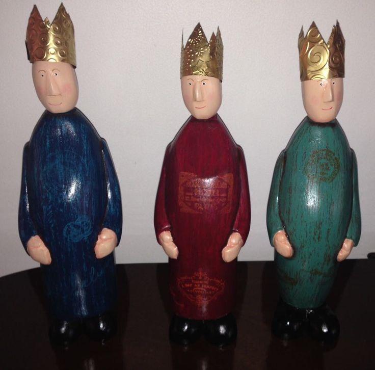 3 Reyes Magos (en madera)