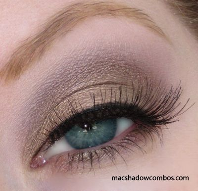 Love this Mac eyeshadow combination, Patina and Satin Taupe.