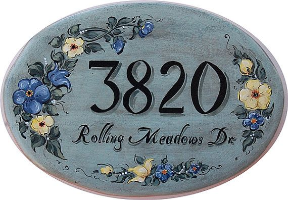 Hey, I found this really awesome Etsy listing at https://www.etsy.com/listing/163755431/ceramic-house-address-sign-hand-painted
