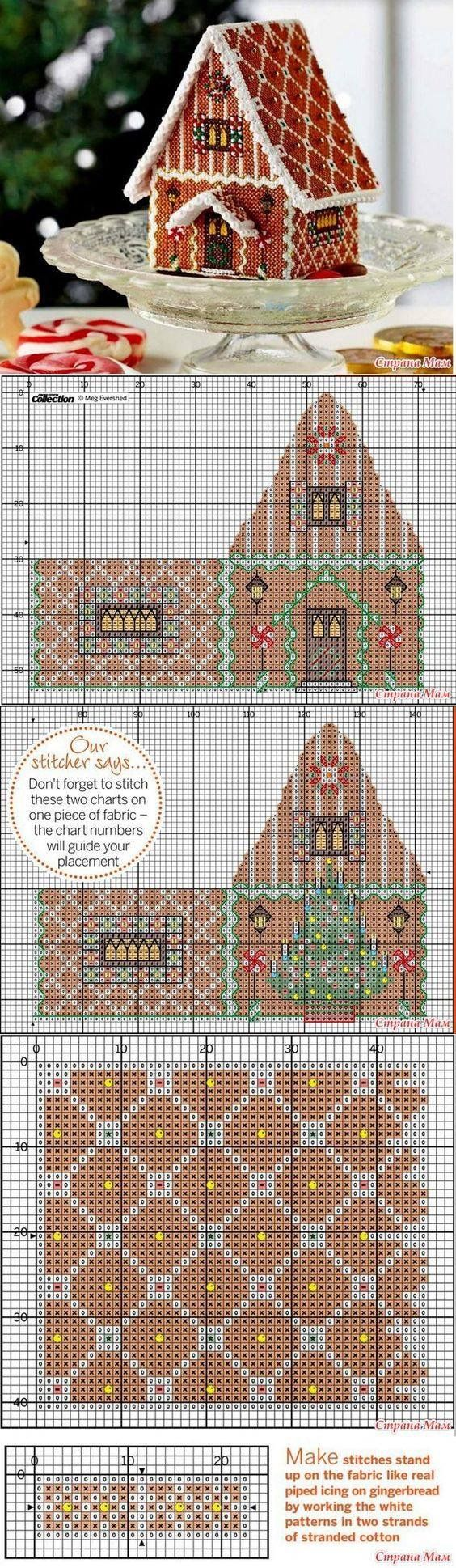 Gingerbread House 3-D cross stitch / plastic canvas