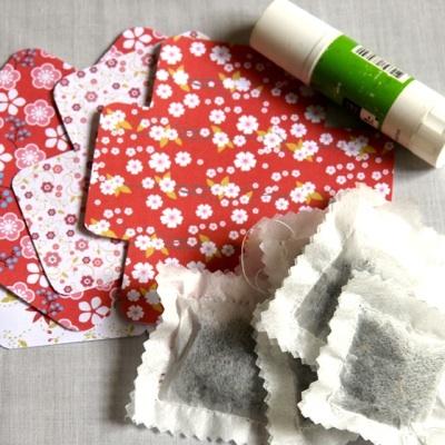 DIY: Des sachets de thé home made et leurs jolis emballagesaux couleurs LuLu FActOrY ! (tuto inside) - DIY : tea bags and lovely tiny envelopes