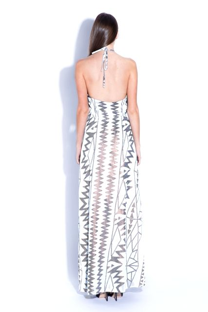 Stunning White Maxi dress. Perfect for a summer party or engagement dress. from Ashanti Brazil