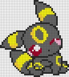 Pokemon Adorable Umbreon bead pattern                                                                                                                                                                                 Más