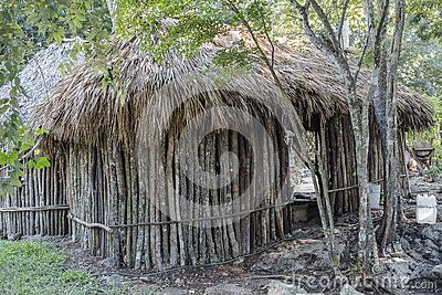 Open-air museum in Chichen Itza,  the old Mayan  in village in Mexico.
