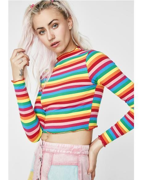 cda6839746 Follow My Rainbow Crop Top