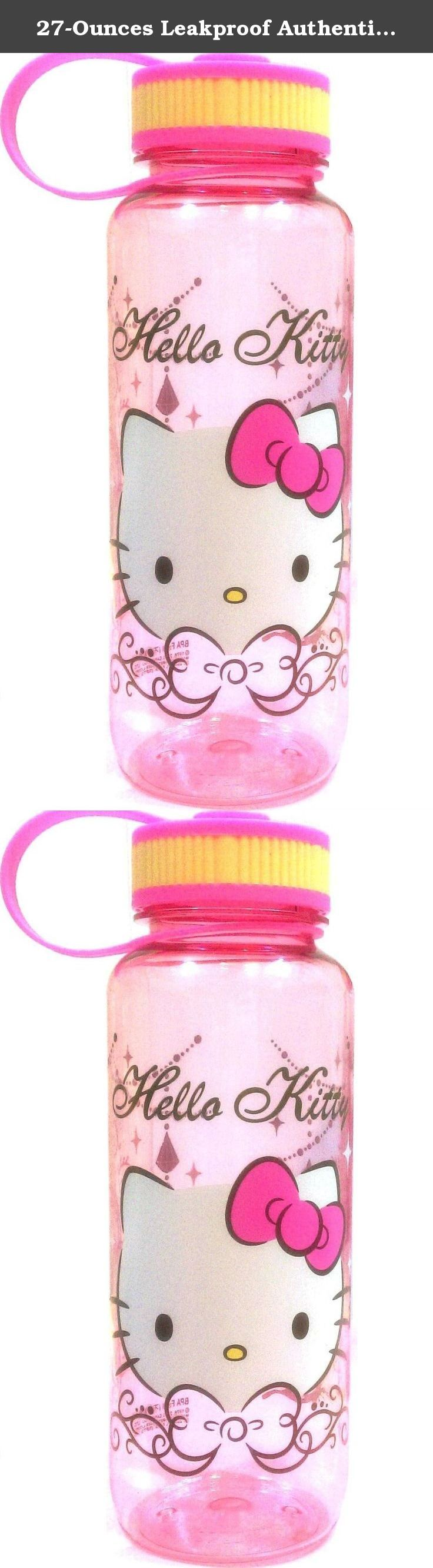 27-Ounces Leakproof Authentic Hello Kitty Tritan BPA Free Water Bottle with Removable Inner Adapter. Made of U.S. Food and Drug Administration (FDA) approved material - Tritan copolyester (BPA FREE. All items with plastic food-contact surfaces are made with plastics that do not contain the potentially harmful chemical Bisphenol-A).