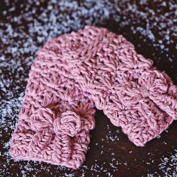 Crochet Pattern Bow Mittens Fingerless Gloves Bow Etsy Muñequeras Croché Patrón De Ganchillo Mitones