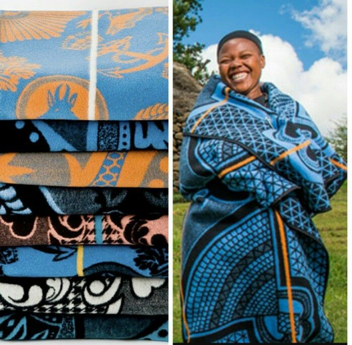 The Basotho Blanket is worn in the  country of Lesotho. The Basotho  blanket is made from 88% wool and 12% cotton and functions well as an essential part of the  daily wardrobe providing warmth in  the cold climate. It is worn by both men and women, and the design details are both rich in symbolism and tradition. The Basotho blanket is a strong representation of the Basotho culture. #culture #fashion #madeinafrica #Lesotho #ethicalfashion #style