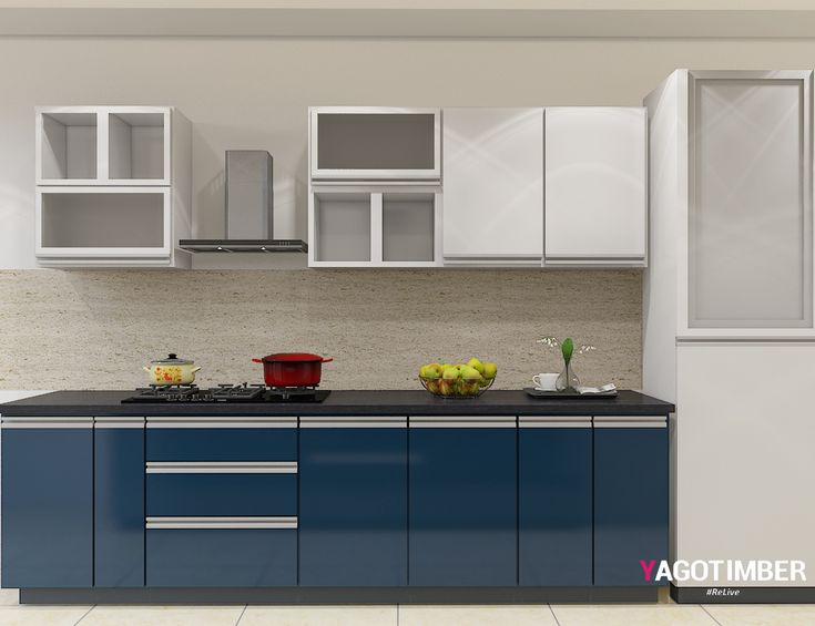 Yagotimber presents the #parallelshaped modular kitchen design for your #home. #modularkitchen #kitchendesign #kitchen