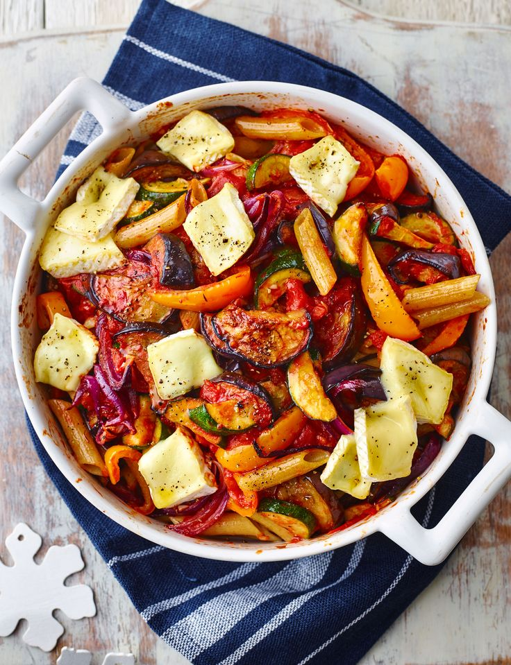 We're dreaming about this melting Brie and ratatouille pasta gratin...