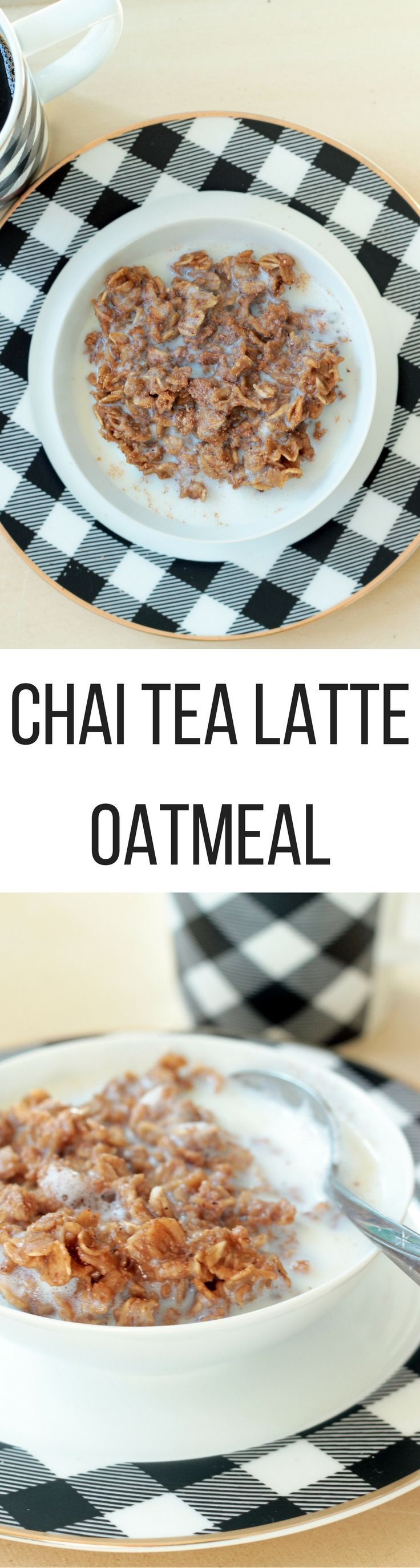 #AD Warm, sweet and spicy Chai Tea Latte Oatmeal is a delicious breakfast that keeps sugar in check.