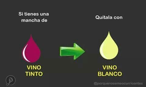 Si tienes una mancha de vino tinto...