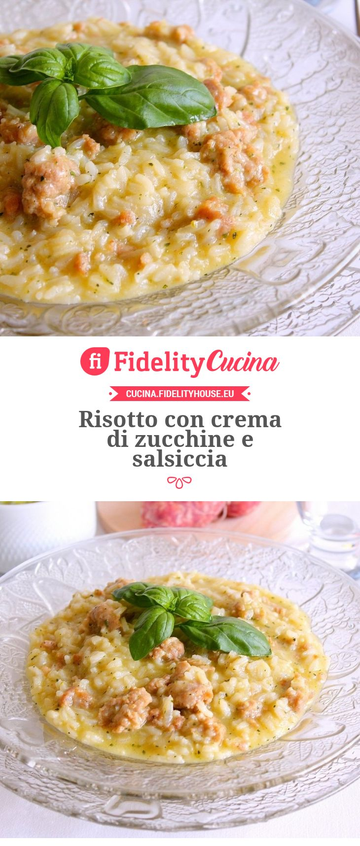 Risotto con crema di zucchine e salsiccia