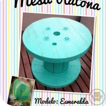 Mesa ratona con bobina de cable | Red Social de Muebles
