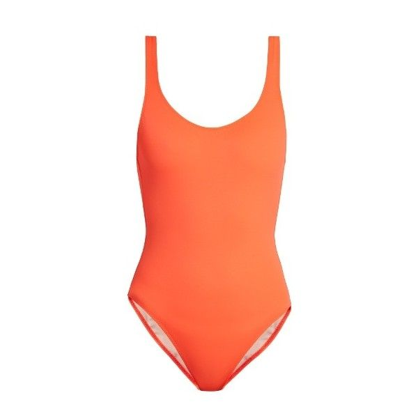 Solid & Striped The Anne-Marie swimsuit ($148) ❤ liked on Polyvore featuring swimwear, one-piece swimsuits, orange, striped swimwear, swimsuit sarongs, striped swimsuit, coral bathing suits and coral swimsuit