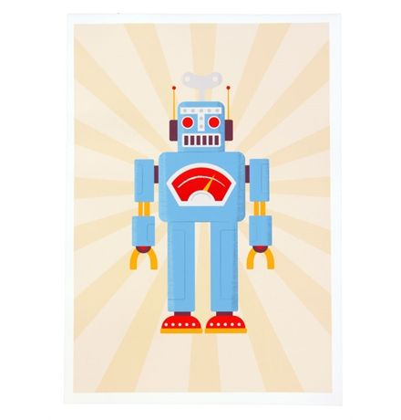 Vintage Robot - Unframed Print A3 matt blatt $59