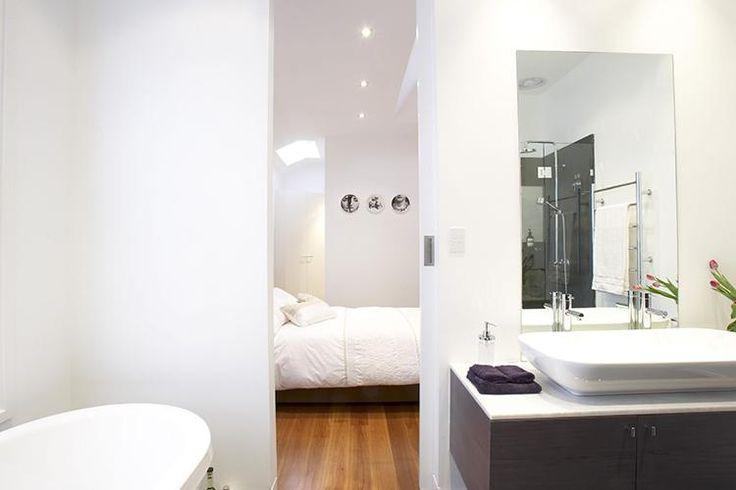 bathroom into bedroom design