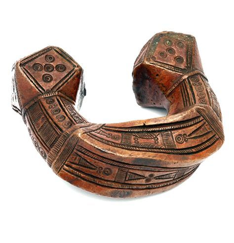 Africa | 'King Manilla' copper currency bracelet from West Africa, most probably Nigeria | 20th century