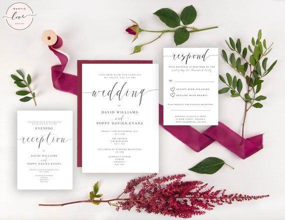 Sample Wedding Invitation Evening Reception Invitation Rsvp Card Wedding Invitation Samples Reception Invitations Wedding Invitations