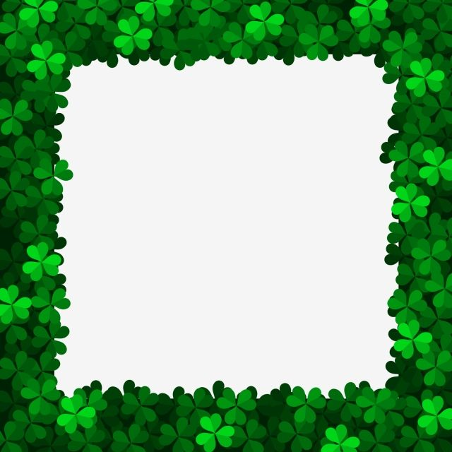Clover Rectangle Border Clover St Patrick Border Png Transparent Clipart Image And Psd File For Free Download Shamrock Clipart Clip Art Clip Art Borders