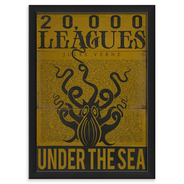 The Interior Art Collection- 20000 Leagues Under the Sea, Framed Wall Art, 43x32cm | ACHICA