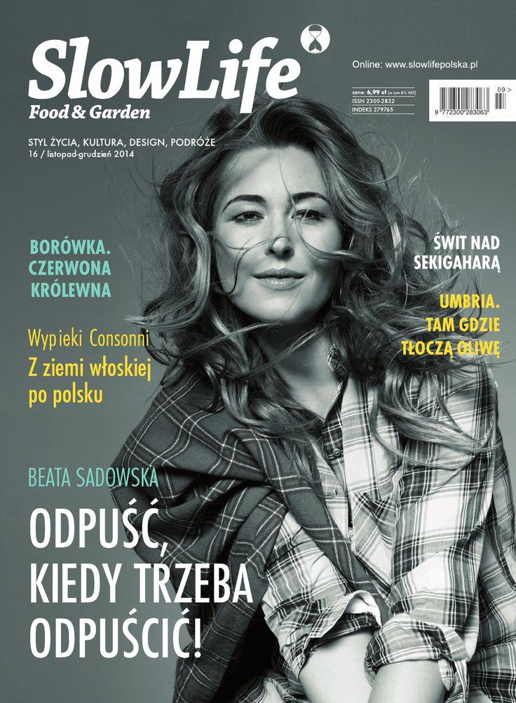 Okładka najnowszego wydania SlowLife Food & Garden - na niej Beata Sadowska - ambasador SlowLife