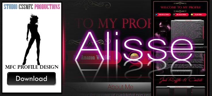 premium MFC profile design Alisse