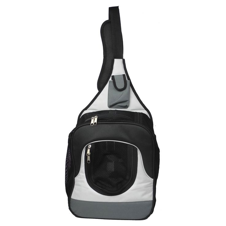 Pet Life Single Strap Backpack and Front Pack Pet Carrier - B35GYMD