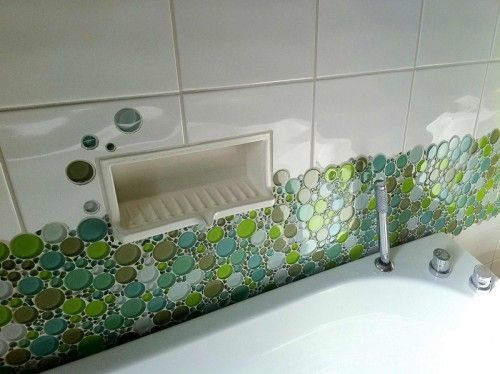 cute use of everstone bubble mosaic glass nice addition of
