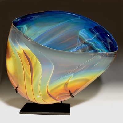 blown glass based on Aurora Borealis Aurora Sculpture #5/2010 by Elodie Holmes