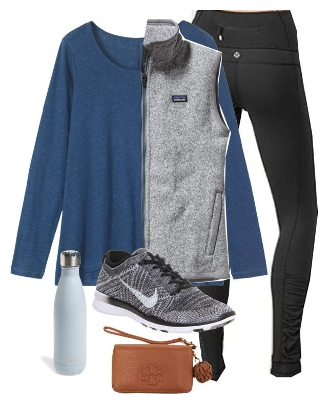 """""""OOTD"""" by prep-lover1 ❤ liked on Polyvore featuring lululemon, Toast, Patagonia, NIKE, S'well, Tory Burch, women's clothing, women's fashion, women and female"""