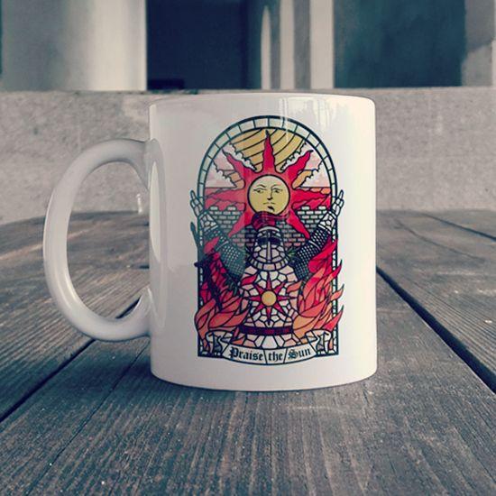 """Chwalcie Słońce! Dla fanów #DarkSouls mamy genialne kubki """"Church of the Sun""""! #gaming #games #praisethesun"""