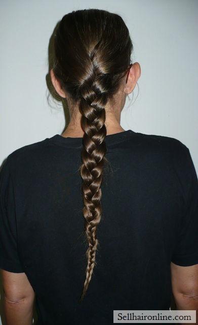 Cool Virgin Medium Brown Hair with Natural Golden Highlights-20 ...