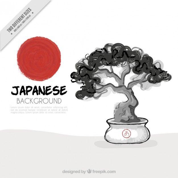 """<a href=""""http://pl.freepik.com/darmowe-wektory/ręcznie-rysowane-tła-akwarela-bonsai_895178.htm"""">Zaprojektowane przez Freepik</a>"""