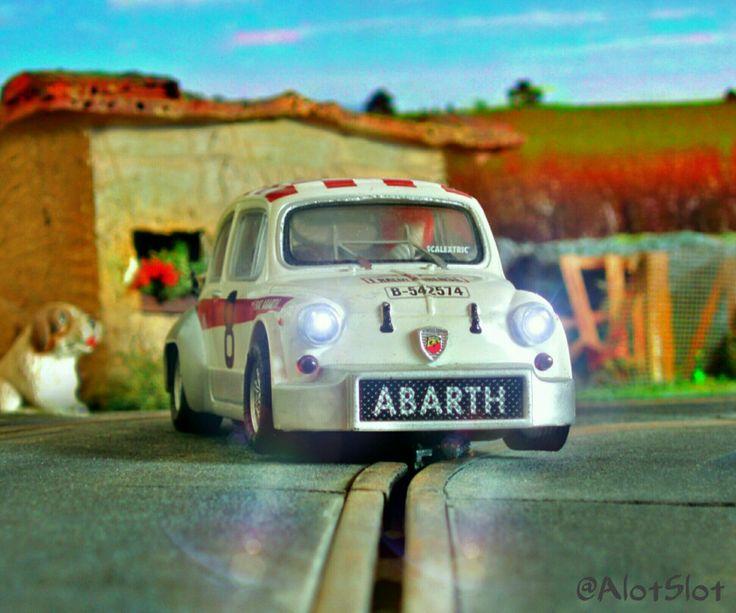 Fiat Abarth 1000 (Altaya) in my Slot Car Track #fiat #abarth #altaya #italiancar…