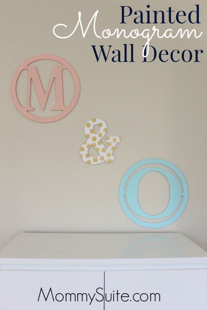 Monogram Wall Decor Ideas : Ideas about monogram wall decorations on
