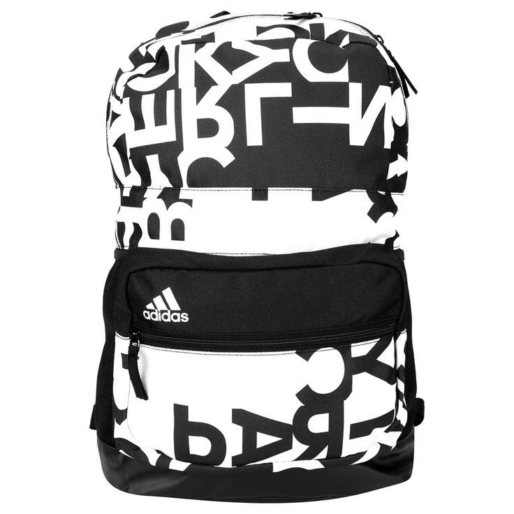 Cheia de estilo, a Mochila Adidas Asbp M 3S Graf3 Branco e Preto � �tima