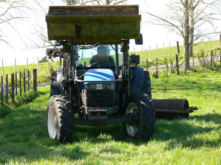 Tractor work on the paddocks.