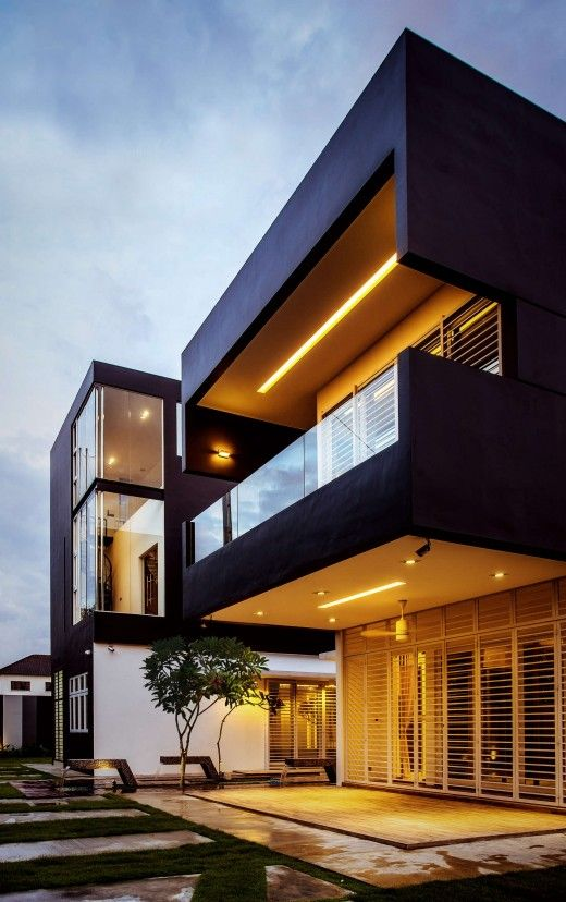 Kulai In Malaysia By Code Red Studio Balconies And Full Height Windows Designed Into The Rear Facade Of This Bungalow