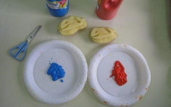 Estampar con patatas