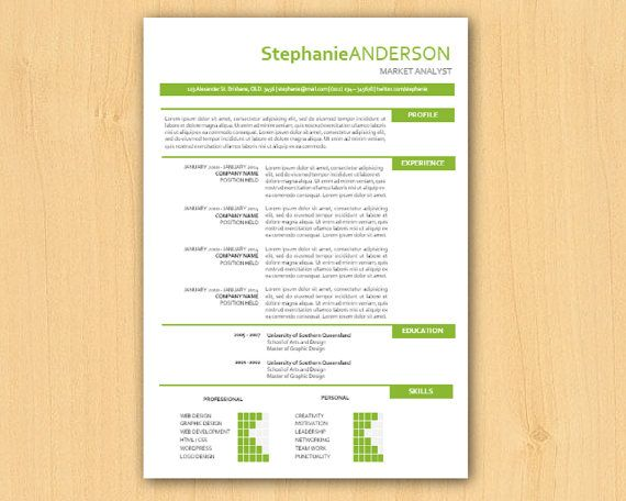 lime modern microsoft word resume template resume by