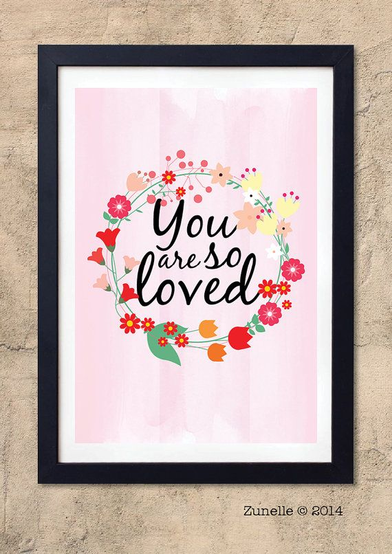 You Are So Loved // Nursery room decor // Nursery quote by Zunelle, £9.00