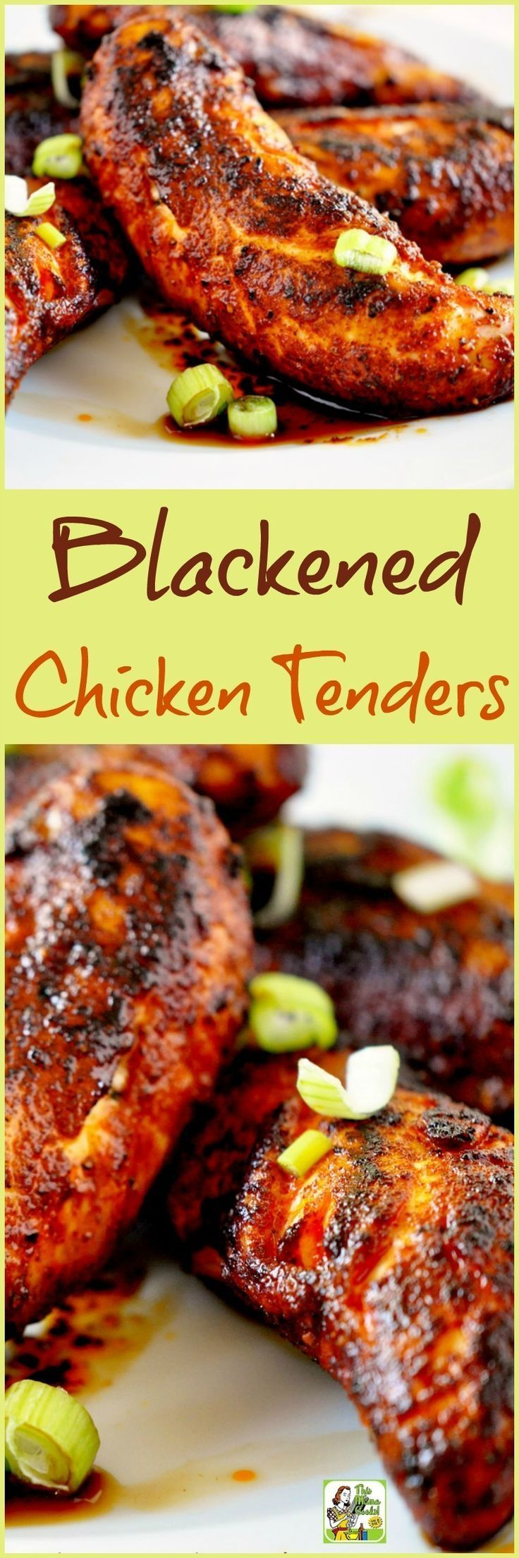 Make this quick, easy and healthy Blackened Chicken Tenders recipe for dinner or as a spicy and healthy party appetizer. @Holly Clegg
