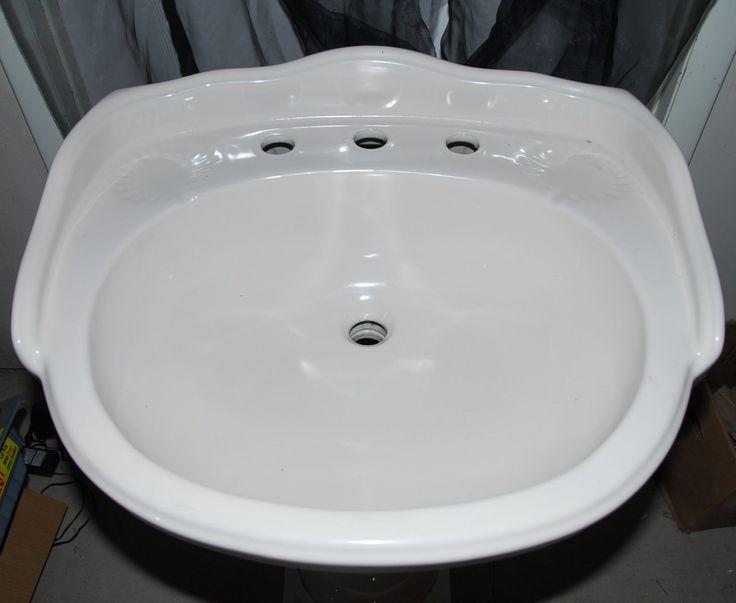 Ferrum Italy Victorian Style Pedestal Sink Fluted Column Base Color: Bone - NEW!   eBay